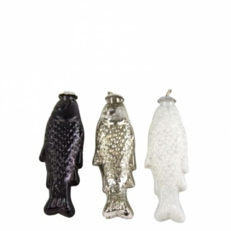 Hanging Fish Ass.(3x4)Silver/White/Matt Black 15cm