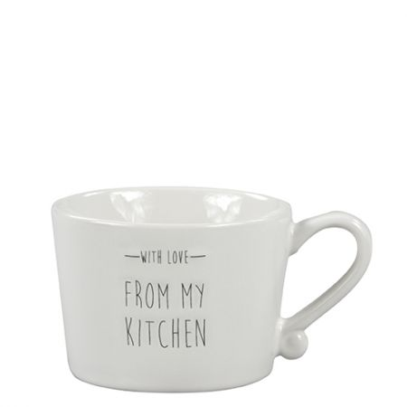 Mug Small White/with love from my kitchen in Black