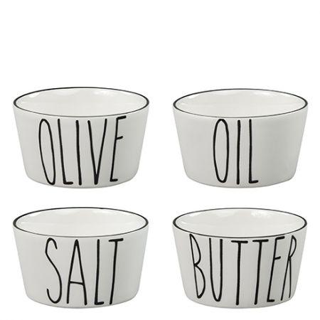 Bowl Ass (4x12pcs) Salt/butter/oil/olive 8x8x4.5cm