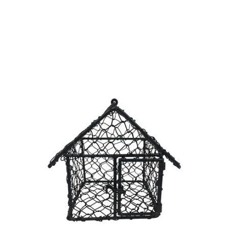 Birdhouse wire 10x10x11cm