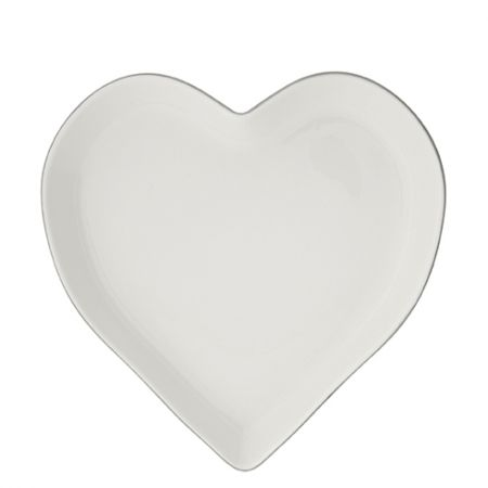 Tray Heart 22cm x 3,5cm with Grey edge