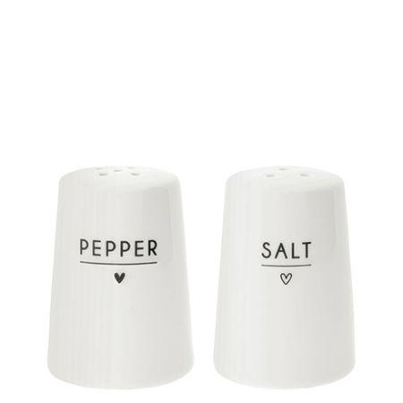 Salt & Peper with Heart in black 6x 8cm