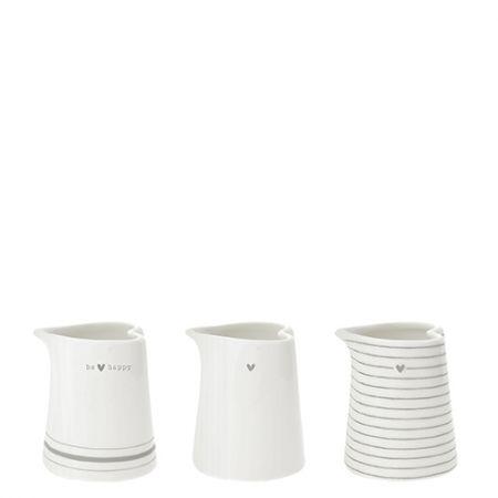 Jug White be/Stripes/Heart Ass (3x6) 6,0x6,5x9,0cm