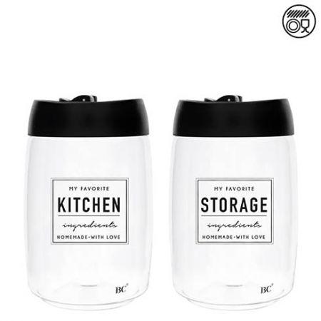 Storage Ass (2x4) with Black Lid 11x17cm