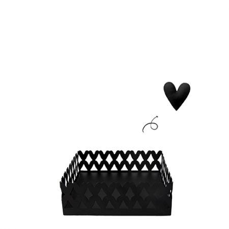 Hearts Napkin Holder Small13.5x13.5x19cm
