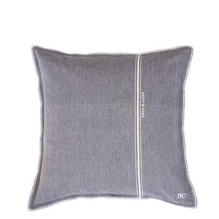 Cushion 50x50 Black Chambray Happy Home