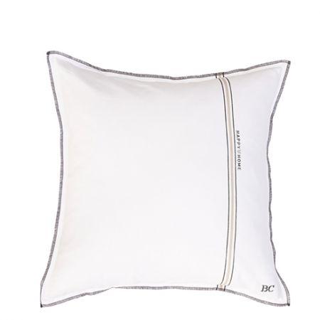 Cushion 50x50 White Chambray Happy Home