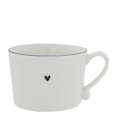 Cup White with Black edge 10x8x7 cm