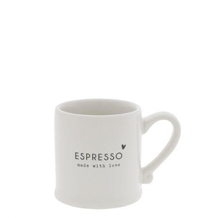NEW Espresso White/made with Love in Black5,4x6,2cm