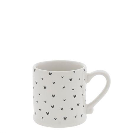 Espresso White/little Hearts in Black5,4x6,2cm