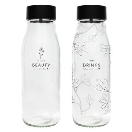 Caraf Glass (2x6) Fresh Drink & Beauty 8.5x22cm