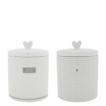 Jars Ass Large White/grey (2x6pcs) 14x14x16.5cm