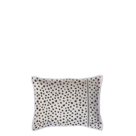 Cushion 25x35 Naturel Chambray Happy Dots