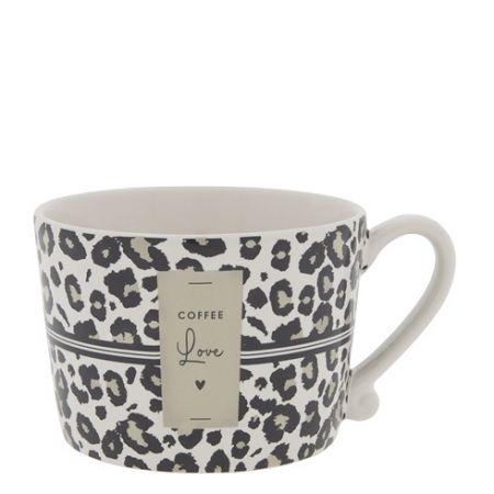 Cup White/Leopard Coffee Love 10x8x7cm