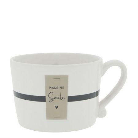 Cup White/Make me Smile 10x8x7cm