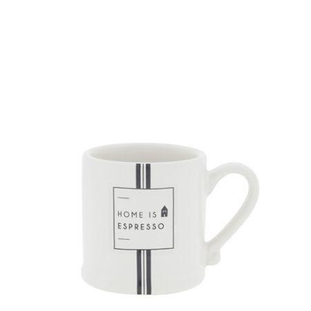 Espresso White/Home is Espresso 5,4x6,2cm