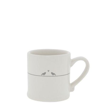 Espresso White/Love Birds 5,4x6,2cm