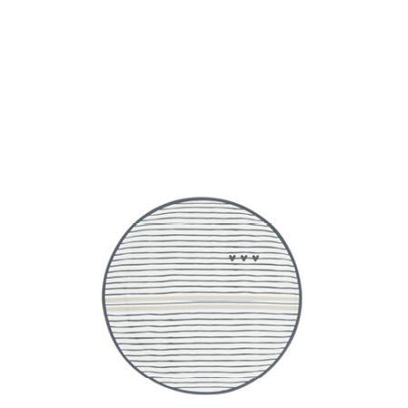 Teatip 9cm White/Stripes and hearts