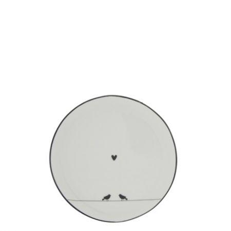 Cake Plate 16cm White/Love Birds