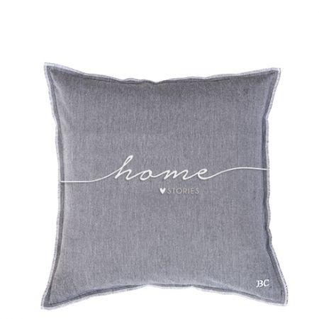 Cushion 50x50 BlueBlack Chambray Home stories