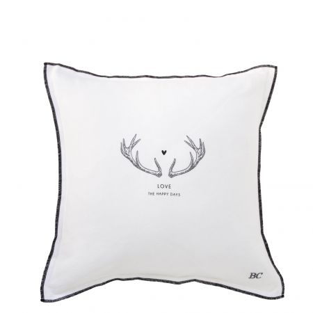 Cushion 50x50 White Chambray Love the Happy Days