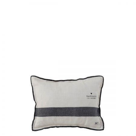 Cushion 25x35Natural Chambray Happiness all around