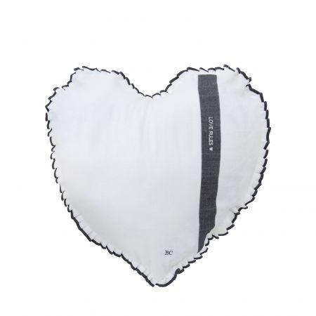 Heart Cushion 50x51 White Chambray FollowYourHeart