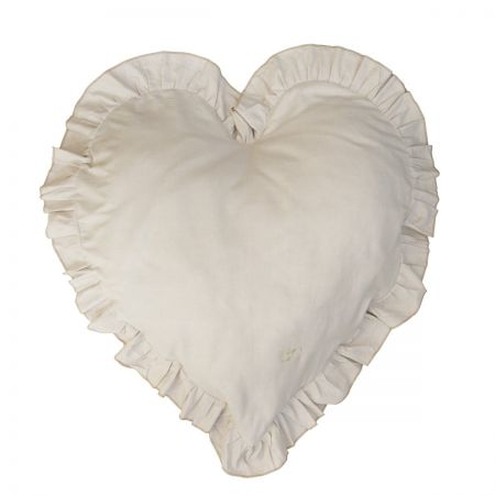 Heart Cushion 83x75 Naturel Chambray (with inner filling)