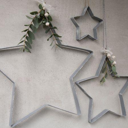 Star Assortment D.Grey (2x(45x45)4x(30x30)6x15cm)