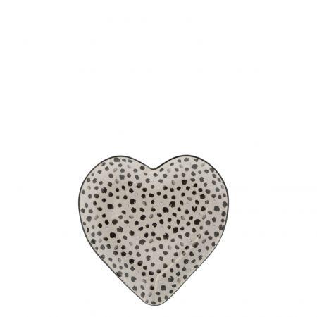 Heart Plate 16cm Titane/Confetti
