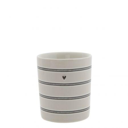 Mug Titane/Stripes 8x8x9cm