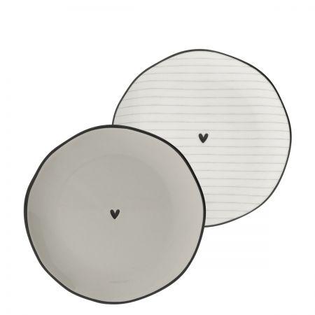 Side Plate Ass(2x12) wh/ti edge & heart