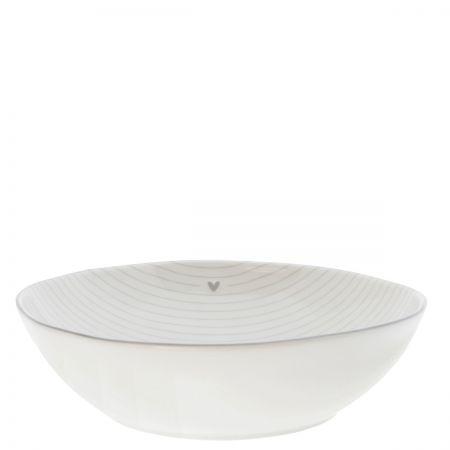 Soup or Pasta Plate Stripes /edge Grey 21x5cm