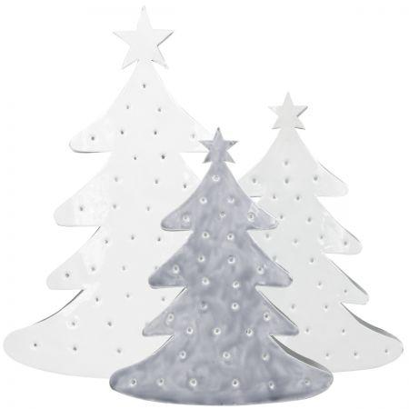 Tree emaille Ass(4xM White/2xGrey&2xWhite)25/33cm