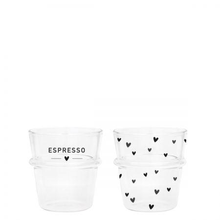 Espresso Glass(2x12) Hearts/Espresso 62x44x66mm