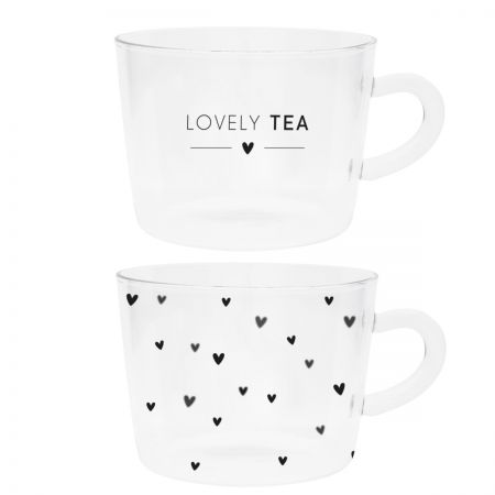Tumbler Tea (2x6) lovely tea/hearts 10x7cm