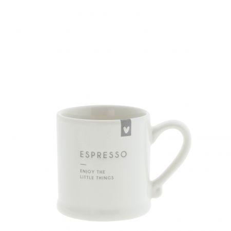 Espresso White/Enjoy the little things 5,4x6,2cm v2