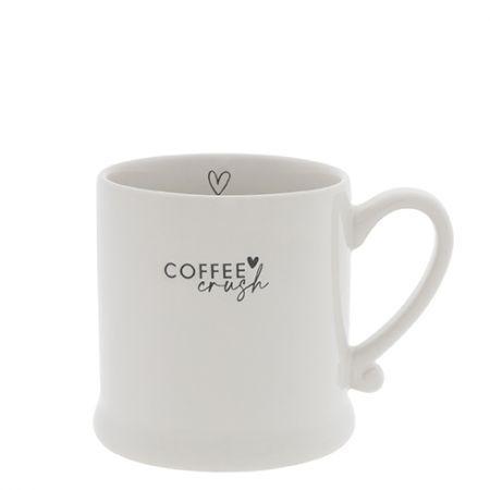 Mug White/Coffee Crush in Black 8x7cm