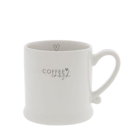 Mug White/Coffee Crush in Grey 8x7cm