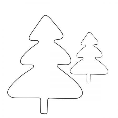 Tree wire Ass.(6x L 60x44cm & 6xM 40x29cm)