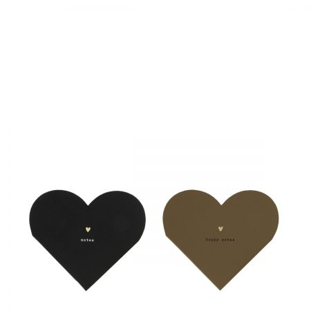 Heart Notes Leatherlook 13x11cm Ass 2x12