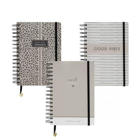 Book Notes A5 Wire O Ass 3x6