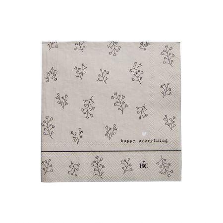 Napkin Titane/Bl. Flower 20 pcs 12.5x12.5cm