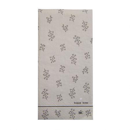 Napkin Titane/Bl. Flower 16 pcs 10x20cm