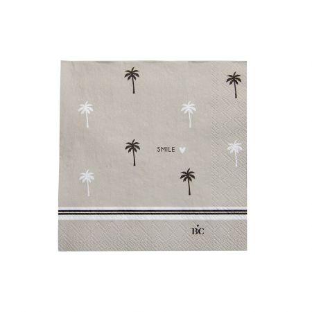 Napkin Titane/Palm Tree Smile 20 pcs 12.5x12.5cm