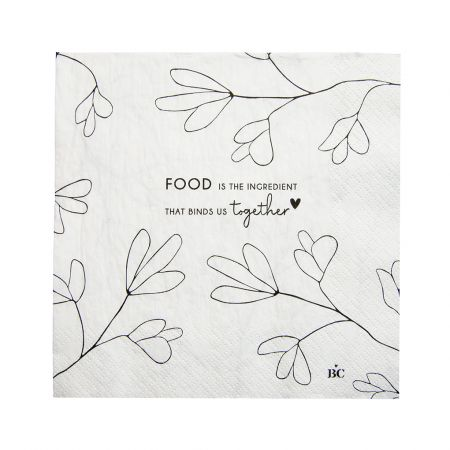 Napkin White/Together 20 pcs 16.5x16.5cm