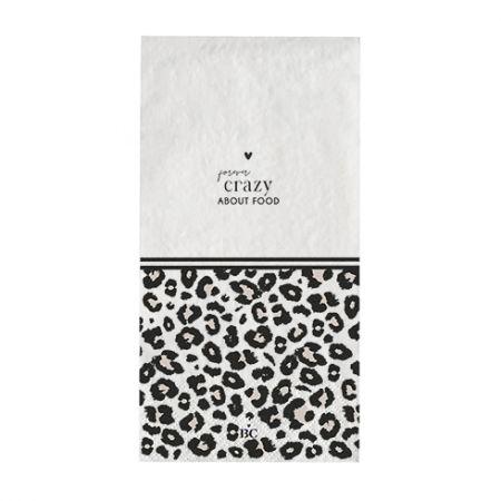 Napkin White/Leopard Crazy 16 pcs 10x20cm